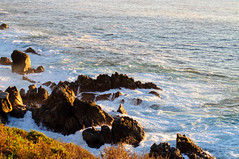A Little Rocky (sbisson) Tags: ocean california light cliff evening coast rocks waves pacific bigsur pch coastline pacificcoasthighway ca1