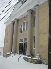 Nicholasville, Ky. (2-16-2015) (kaintuckeean) Tags: snow church mainstreet kentucky blizzard jessamine nicholasville jessaminecounty