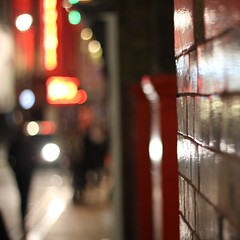 Soho Lights (No Great Hurry) Tags: square soho london windmill uk red reflecting reflection 500mm 550d eos550d canon primelens prime bokeh blurred blur dof ngh robinmauricebarr 1000views 1000 amateur amateurphotographer robinmauricebarralsoknownasnogreathurry art photoart capital britain gb greatbritain lndn england squared cube robinbarr photo image photographic squareformat exposure flickr focus depthoffield unitedkingdom nogreathurry