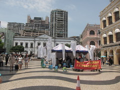 Demonstration at Largo do Senado (asianfiercetiger) Tags: central macao  largodosenado    freguesiadas