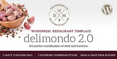 Delimondo 2.0 - 5 Styles Restaurant & Food WP Theme (Food) (hypesol) Tags: food fish bar restaurant cafe pub wine burger grill pizza business cupcake steak barbecue menucard
