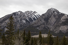 Norquay Mountain across the valley from Cave and Basin National Historic Site, Banff, Alberta (Jim 03) Tags: park terrain canada mountains ice landscapes rocky jim falls basin alpine national alberta bow glaciers fields banff cave forests coniferous 1885 norquay 2016 jimhoffman jhoffman jim03 wwwflickrcomphotosjhoffman2013 wwwjimahoffmancom