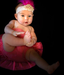 Baby Love (Angeline Haslett Photography) Tags: baby cute love girl child sweet adorable darling loveable tutu headband angelinehaslettphotography