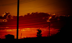 There Will Be Sunset (Kenny Dong) Tags: sunset sky cloud building electric clouds landscape wire power outdoor line powerlines wires electricity fujifilm powerline