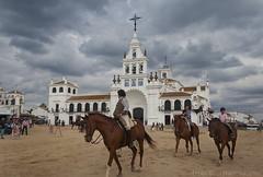 El Rocio (Lydia Tausi Photography) Tags: life sky horses espaa beautiful rain canon spain camino cloudy religion huelva rocio ermita almonte elrocio eos500d lydiatausi