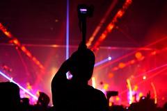 monopod and the camera man. (redshutterbugg) Tags: camera light music love night concert fujifilm discoverla