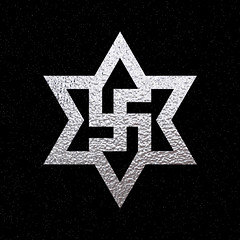 six pointed star | square swastika #3 (synartisis) Tags: square star symbol swastika hexagram six pointed raelian