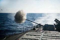 160514-N-EH218-076 (U.S. Pacific Fleet) Tags: ocean usa pacific mob pacificocean cruiser underway deployment 2016 ussmobilebay cg53 7thfleet