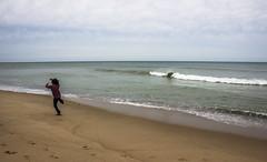 skipping rocks (malenajax) Tags: sky beach water sand waves capecod rockskipping