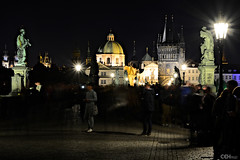 On Charles Bridge at Night