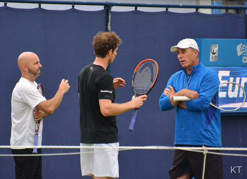 Ivan Lendl - Andy Murray practice