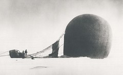 Arctic explorers S. A. Andre and Knut Frnkel stand near the wreckage of the balloon they had used in attempt to reach the North Pole. Both men and the photographer, Nils Strindberg, would be dead within three months and remain missing for 33 years. (ca. (Histolines) Tags: ca men history dead for three stand missing photographer 33 near 14 north balloon july s retro pole arctic used nils be both timeline they years reach had months would explorers wreckage attempt remain knut within strindberg andre 1897 vinatage a historyporn frnkel histolines 2656x1624 httpifttt1qi4nam