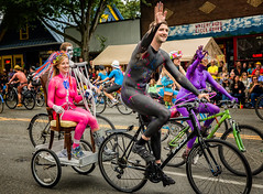 Going for a Ride (KPortin) Tags: seattle bicycles fremontsolsticeparade paintedbicyclists