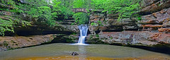 Upper Falls (MoodyGoat) Tags: ohio hiking hockinghills oldmanscave gorgetrailwaterfalls