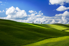 On the Green (fboriosi) Tags: verde green primavera spring travels nuvole d weekend ombre tuscany week siena luci montalcino pienza toscana sole valdorcia turismo colline pianura viaggiare