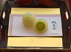 wagashi 2 (sapphire_rouge) Tags: food girl cake japan cherry japanese foods cherryblossom