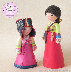 Korean Hanbok Dress Cake Topper (SugarSweetCakes (Angela)) Tags: birthday korean caketopper firstbirthday figurine kee keepsake dol gumpaste doljanchi gumpastefigurine