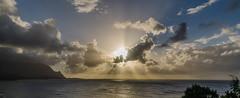 Pacific sunset (Igor Sorokin) Tags: ocean travel sunset sea usa reflection clouds island hawaii us nikon rocks pacific zoom scenic sigma cliffs telephoto kauai dslr sunrays 1770 brilliant d7000