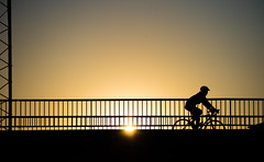 Oslo, June 8, 2016 (Ulf Bodin) Tags: bridge sunset summer silhouette oslo norway norge outdoor no bro solnedgng canoneosm3 canonefm55200mmf4563isstm