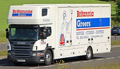SCANIA P280 - BRITANNIA Greers Removals Keith Morayshire (scotrailm 63A) Tags: trucks removals lorries