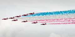 The Red Arrows (Sean Batten) Tags: blue red england white london plane nikon unitedkingdom gb 70200 redarrows westminsterbridge flyby d800
