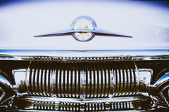 Lavender Pontiac (Icedavis) Tags: abstract car auto show lavender purple chrome grille hood ornament bumper pontiac 1957 back 50s fifties minneapolis minnesota