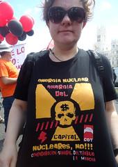 Mani CGT, POR LO PÚBLICO - Politica (Fotos de Camisetas de SANTI OCHOA) Tags: antinuclear calavera