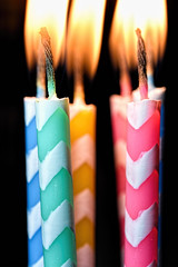 Candles with stripes (HMM) (WilliamND4) Tags: birthday color macro nikon candles stripes flame d750 hmm birthdaycandles birthdaycandle tokina100mmf28atxprod macromondays tokina100mmf28lens nikond750