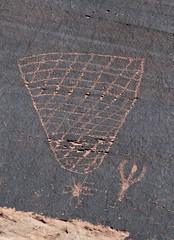 Petroglyphs / Potash Road Site (Ron Wolf) Tags: archaeology utah basket fremont nativeamerican petroglyph anthropology rockart blm crosshatching