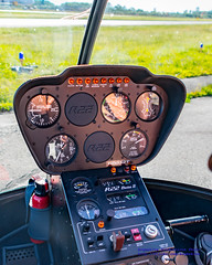 Revving Up for Take-Off (AvgeekJoe) Tags: chopper nikon cockpit aerial helicopter aerialphoto dslr aerialphotography robinsonr22 r22 aerialphotograph generalaviation painefield kpae cockpitphoto d5300 nikond5300 n8322t