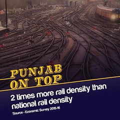 2 times more rail density than national rail density-Sukhbir Singh Badal (youth_akalidal) Tags: punjab akalidal progressivepunjab punjabontop
