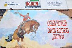 Ogden Pioneer Days Rodeo mural (Great Salt Lake Images) Tags: city urban utah downtown ogden photowalking