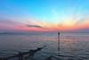 Sunset at Fort Victoria (Simon Downham) Tags: totland bay isle sea water sunset blue hour hurst castle sky sundown pretty moon fortvictoria hurstcastle isleofwight goldenhour bluehour dusk twilight shimmer shimmering night evening