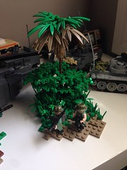 Vietnam (LoganLego) Tags: trees green lego palm palmtrees guns custom freeform customlego brickarms customprinted legovietnam citizenbrick camolego