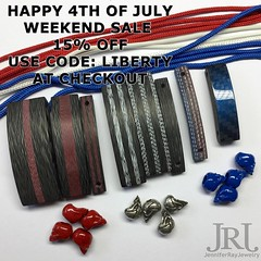 Happy 4th of July weekend sale! 15% off in my shop: JenniferRayJewelry.com Use the code: Liberty at checkout to receive your discount. Valid til July 5th and only on JenniferRayJewelry.com #jenniferrayjewelry #jrj #4thofjulysale #4thofjuly #sale #carbonfi (JenniferRay.com) Tags: ray jennifer jewelry carbon custom fiber exclusive paracord jrj instagram