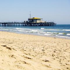 Santa Monica Beach LA (Lisbet Svensson) Tags: ocean california seascape beach landscape pier losangeles