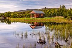 Tutach Glow (Stoates-Findhorn) Tags: reflections reeds scotland highlands unitedkingdom loch boathouse lochan 2016 tutach