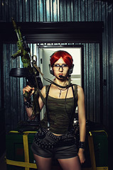 Expendable (noor.khan.alam) Tags: woman sexy girl beautiful infantry female danger soldier army costume war uniform gun adult action military rifle hangar guard young posing security assault safety redhead special camouflage killer weapon sniper automatic spy mission warrior strong brave agent combat swat ammunition forces armed defend russianfederation safeguard