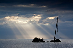 Light from Heaven (GlasgowPhotoMan) Tags: sea water canon landscape scotland clyde ship shipwreck ayr waterscape ayrshire kaffir firthofclyde clydepuffer canon5dmkii