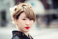 Miho (Jon Siegel) Tags: portrait woman flower girl beautiful japan japanese tokyo ginza daylight nikon afternoon 14 85mm kimono redlipstick nikkor 85mmf14 nikon85mmf14 d810