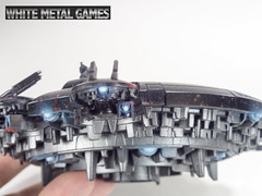 Tau Drone Port (whitemetalgames.com) Tags: blue red white black metal port painting effects fire flying nc flyer energy north games raleigh carolina service warriors tau commission hex osl drones drone wmg firewarriors