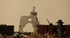 Watchman (SilverMorph) Tags: weird war lego cathedral dusk trench sentry watchman warfare separatist brickarms legography proxygreen