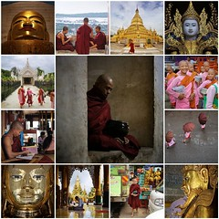 Buddism in Myanmar (Bn) Tags: fdsflickrtoys monks buddhism little teacher novice myanmar burma birma enlightenment meditation spiritual road alms modern nuns nun bhikkhuni rice ceremonial devote mandalay pink robes earthenred shaved girl umbrella four lifestyle meditative life city street candid theravada monk monastic monastery burmese sandals feet orange movement smile friendly boys disciple joy joyful emotion best collage collection finest galarie journey 50faves topf50