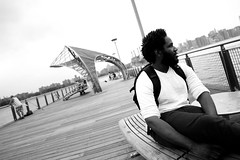 Bruvah Still Got S O U L (Brotha Kristufar) Tags: nyc bridge family portrait water monochrome brooklyn port canon fun bay friend shot angle time outdoor weekend wide williamsburg