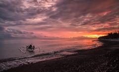 Going fishing in Bali (Bmartel2k) Tags: sea bali clouds fishermen leverdesoleil pcheurs amed