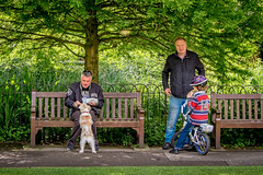 Feeding (The Image Den) Tags: park people dog kid candid winchester snacking cathedralgardens
