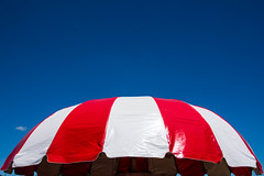 Carousel canopy (sniggie) Tags: blue red sky white color carousel canope