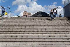 Going down (KevPBur) Tags: street stairs concrete reading steps convergence berkshire leadinglines readingstation sigma30mmf14exdchsm walkingdownsteps canon650d canonrebelt4i canonkissx6i