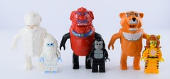 Animals suits vs bigs (Alex THELEGOFAN) Tags: lego orient expedition animals yeti gorilla monkey tiger suit