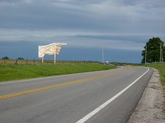 This way. (kellyludwig) Tags: road lexington finger stormy mo signage backroads